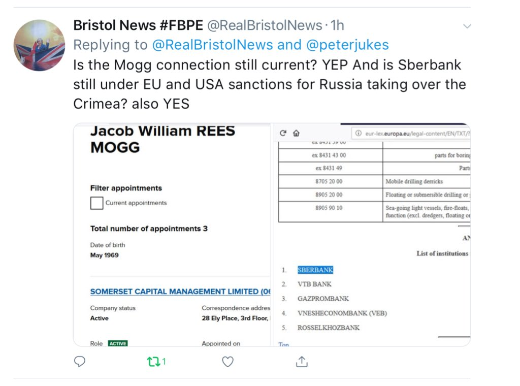 The madness of Jacob Rees-Mogg – he has cash invested in a blacklisted RUSSIAN bank DYlX649XkAEAX9k