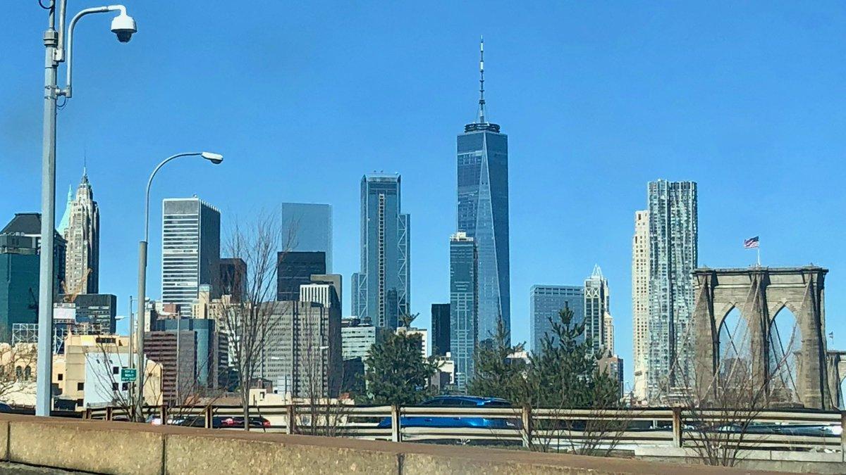 The Lower Manhattan skyline, 11:51 a.m....