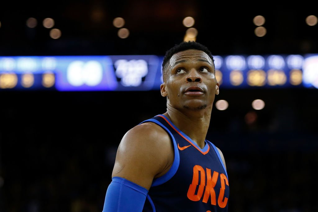 Russell Westbrook has recorded a triple-double for the fifth straight game!  Oscar Robertson is the only other player with three career streaks of five straight triple-doubles, according to @EliasSports.
