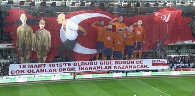 başakşehir'in çanakkale koreografisinde...