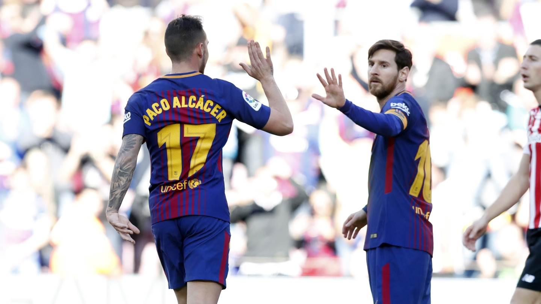 �� Minut 74: Segon canvi al Barça, entra Aleix Vidal en el lloc de Paco Alcácer (2-0) #BarçaAthletic https://t.co/K0s1JViPAi