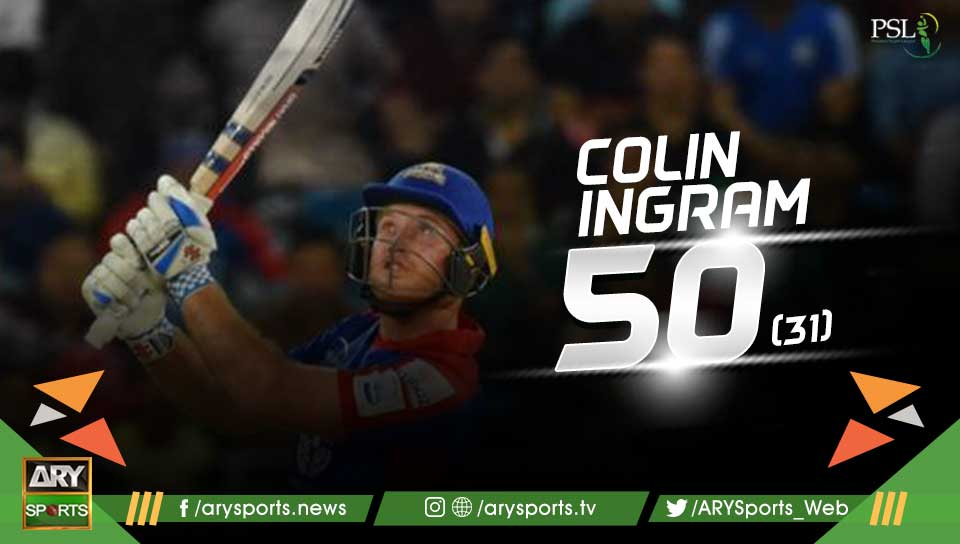 FIFTY FOR COLIN INGRAM! great innings #K...