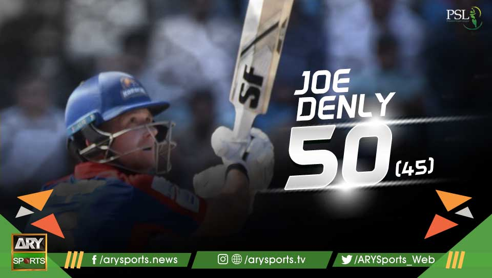 FIFTY FOR JOE DENLY! #KKvsIU https://t.c...