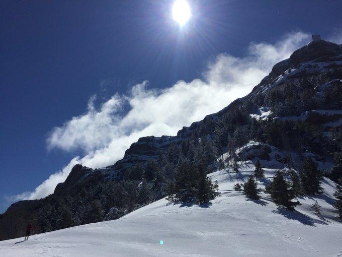 La nevada de la pasada noche, desde Peña Canciás. Preciosa cara Norte, con vistas en todo momento a Ordesa. Gran mirador exterior.