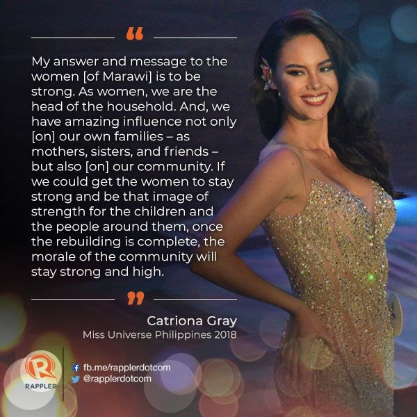Image result for catriona gray in marawi pic