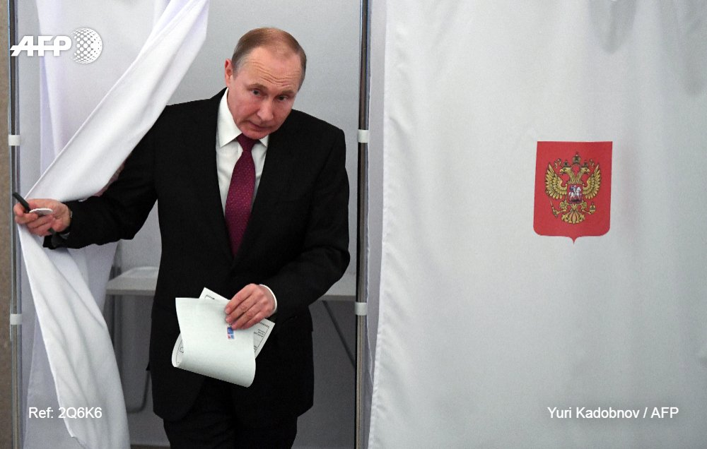 #BREAKING Russia's Vladimir Putin wins fourth Kremlin term with 73.9% of vote, according to an exit poll