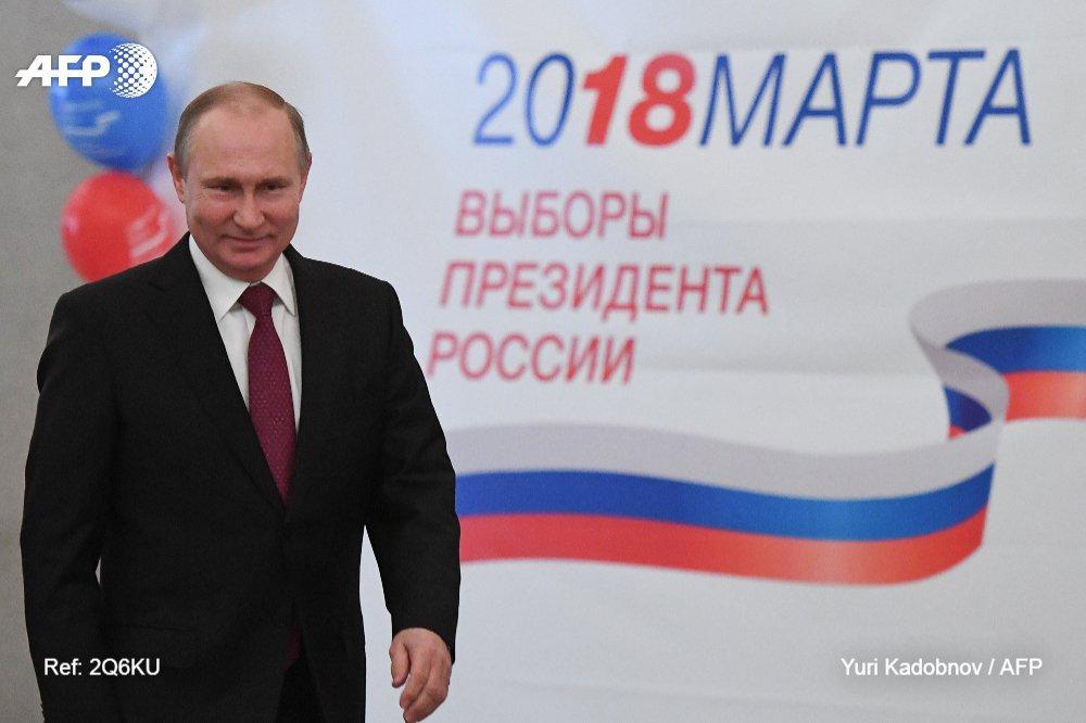 #ÚLTIMAHORA Vladimir Putin reelecto con 73,9% de los votos, de acuerdo a sondeo a boca de urna #AFP