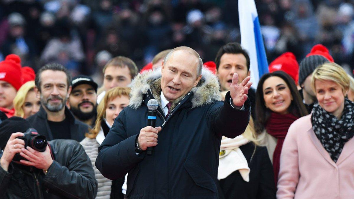 ALERTE INFO - Poutine réélu pour un quatrième mandat avec un score compris entre 71% et 74% https://t.co/h37r9y8oWc