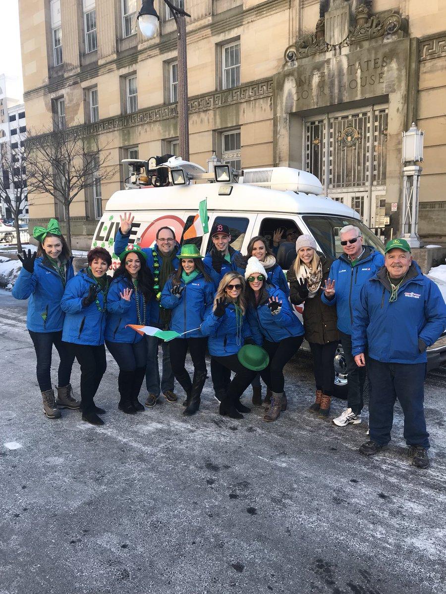 News team assemble. Happy #StPatricks!!...
