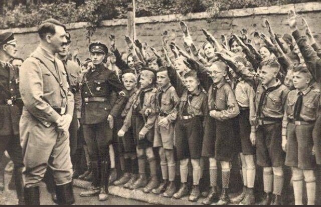 #NationalWalkoutDay 1939  Hitler Shows Up To Rally The Children Who Walked Out Of School To Support #GunControl  #SupportTheNRA #KeepAmericaGreat
