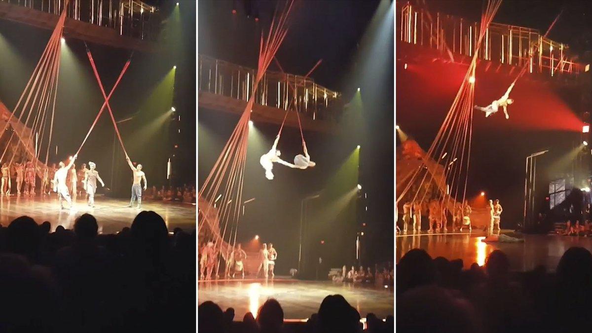 [IMÁGENES SENSIBLES] El trágico momento en que un acróbata del Cirque du Soleil muere al caer de más de 4 metros en pleno show https://t.co/KkUMdeUk0h