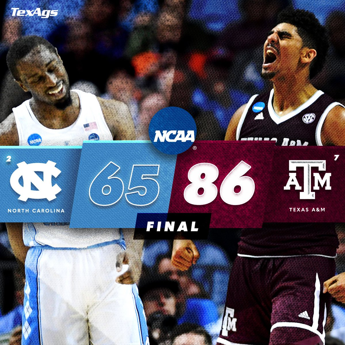 TEXAS A&M IS HEADED TO THE SWEET 16.