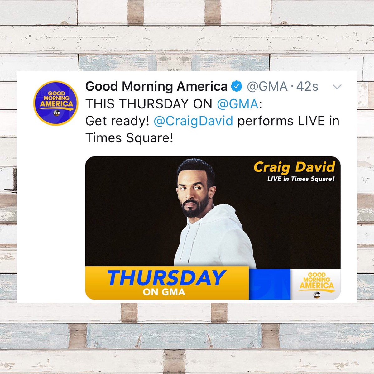 What a time to be alive ✨ @GoodMorningAmerica #TheTimeIsNOW ✨ https://t.co/Bwdi05PLBb
