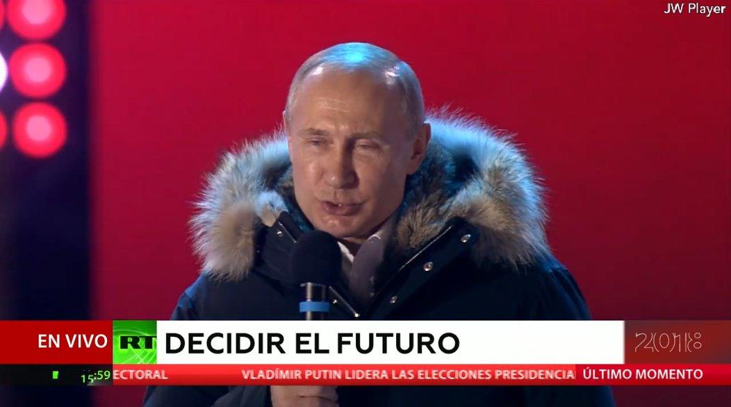 'Veo confianza y esperanza, la esperanza de nuestra gente con la vamos a seguir trabajando ', dice Putin EN VIVhttps://t.co/jqZU9T6YwZ #RusiaDecide #EleccionesRusia #RussianElections2018O