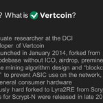 Image for the Tweet beginning: What is #Vertcoin ?