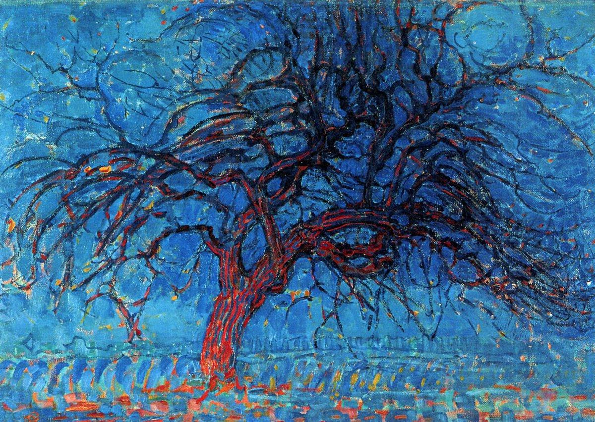 @Cassini_jon @BPerrionni @Sashainua @ceconomou56 @SusanScCastaldi @marmelyr @mariaireneali @bmarczewska @anthony77631293 @dianadep1 @albertopetro2 @smc_su @Amyperuana Thanks Jon  Good evening to all Piet Mondrian ( 1872 - 1944 ) Evening, the Red Tree 1908, Gemeentemuseum den Haag