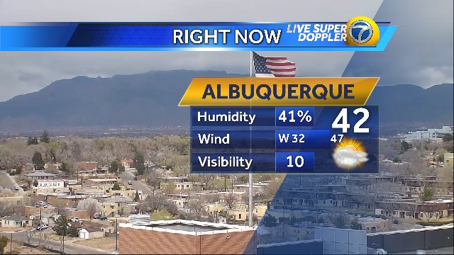 #Wind whipping through #ABQ & #Snow...