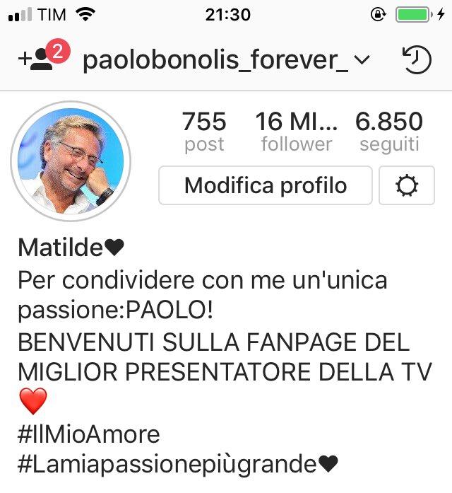 Seguitemiii!😉😍❤️ #paolobonolis #avantiun...