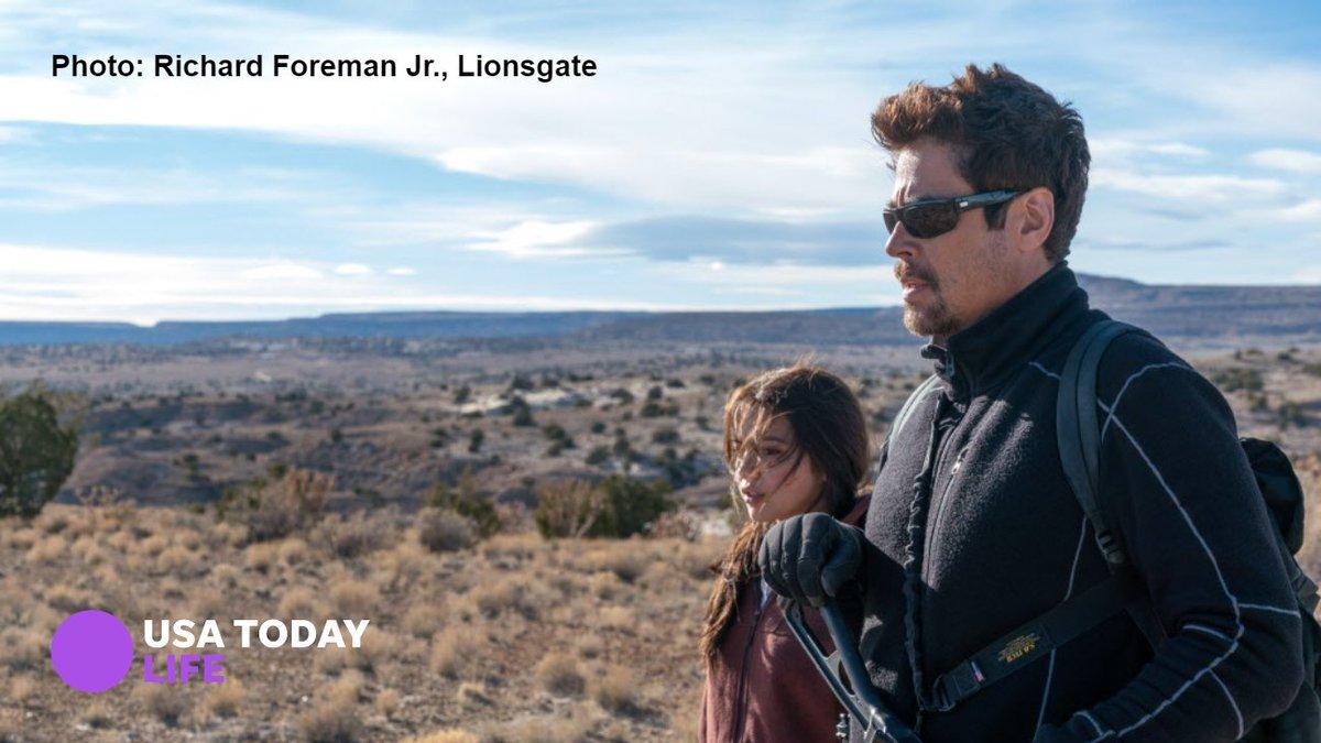 EXCLUSIVE sneak peek: Benicio Del Toro's killer returns in the 'Sicario' sequel 'Day of the Soldado.' (Visit us Monday evening for the new trailer, too.) #SoldadoMovie https://t.co/FV8AOYvq6M