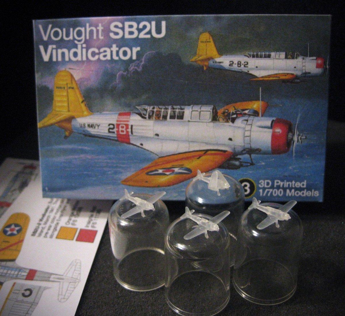 1/700 Vought SB2U Vindicator - (x4) 3D P...