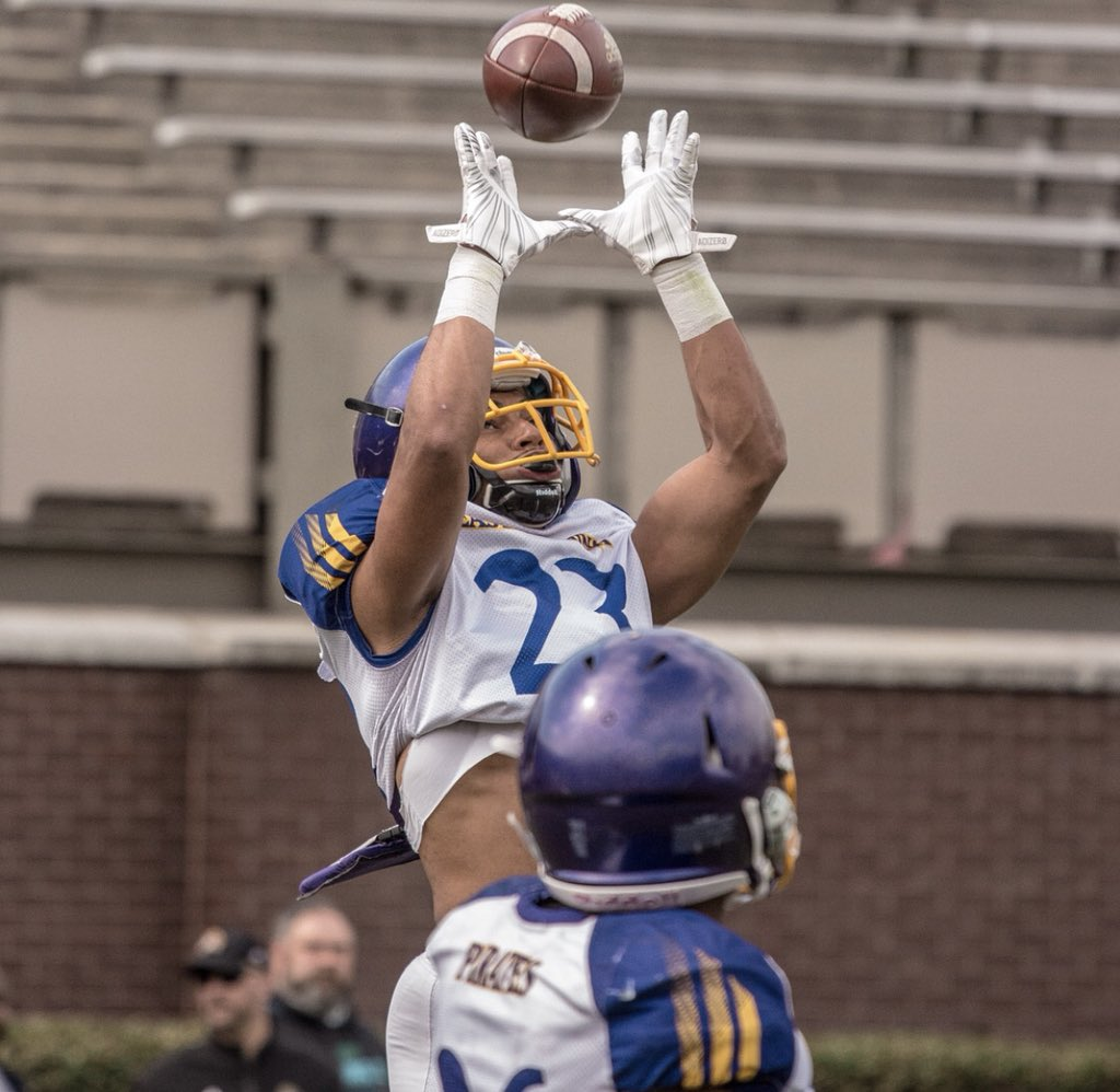 #SpringBall Warren Saba @PACMANvsPABLO @ECUPiratesFB 4merly Garden City JuCo @GCCC_FOOTBALL