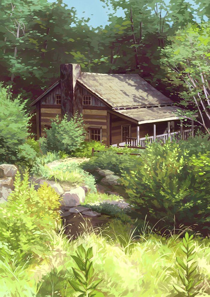 Peaceful little cottage (study). I hope...