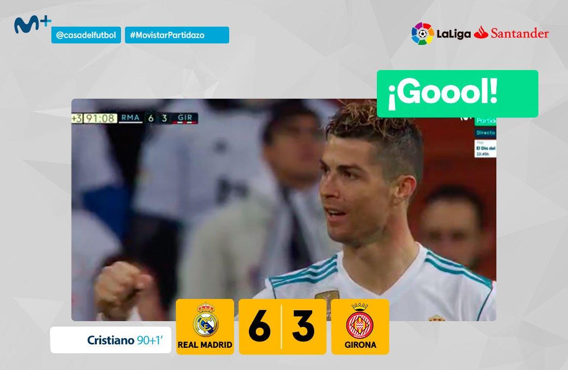 ¿Salah? ¿Icardi? Cristiano también los marca de 4 en 4. #MovistarPartidazo