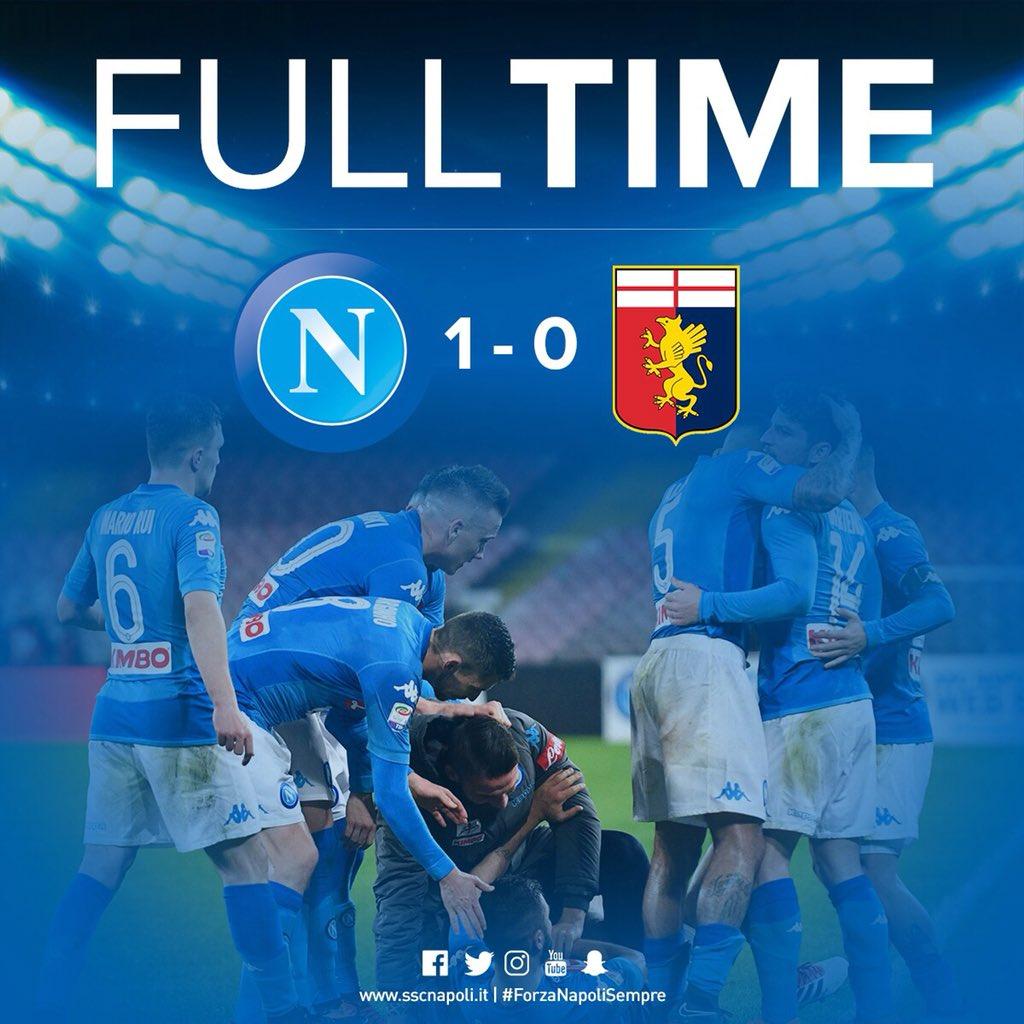 ⏱ FULL TIME ⚽️ #NapoliGenoa 1-0 🎉👏👍 🇮🇹 #...