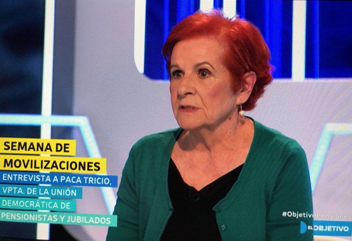 """Paca Tricio en @ObjetivoLaSexta """"Los may..."""