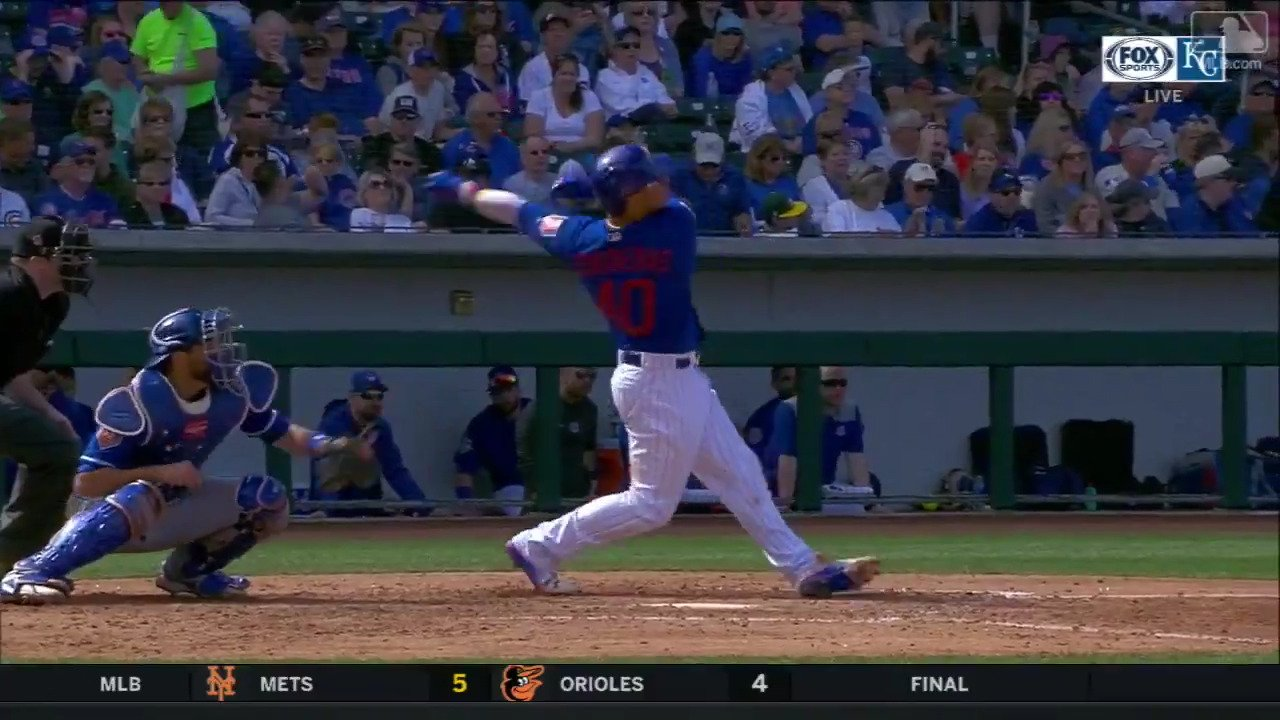 That bat drop. ��  @WContreras40 got ALL of this one. https://t.co/0b46lsBfwT