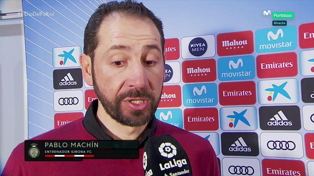 Es enormemente meritorio y superdifícil hacer 3 goles en el Bernabéu; hemos sido descarados. Pero me voy muy jodido por los 6 goles que hemos recibido. Machín. #MovistarPartidazo