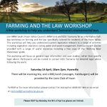 Are you a producer in the Huon Valley? Want to know more about  environmental legislation and how it affects you? Come along to a an informative  half-day workshop on farming and the law, specifically tailored for Huon Valley residents on April 14