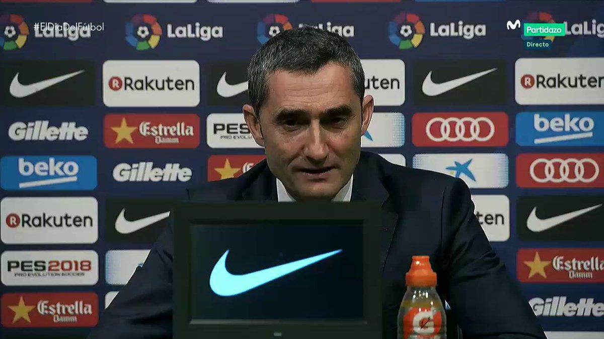 Todos querríamos tener a Andrés Iniesta para siempre. Valverde. #ElDíaDelFútbol
