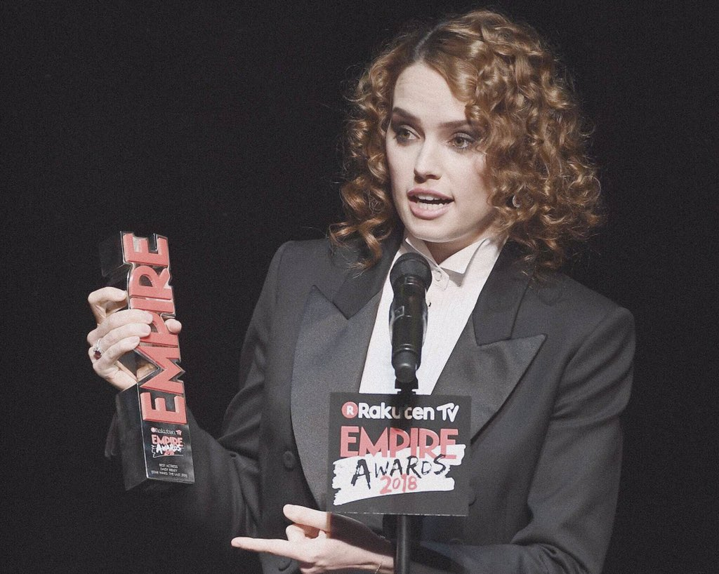 'Best actress' winner goes to Daisy Ridl...