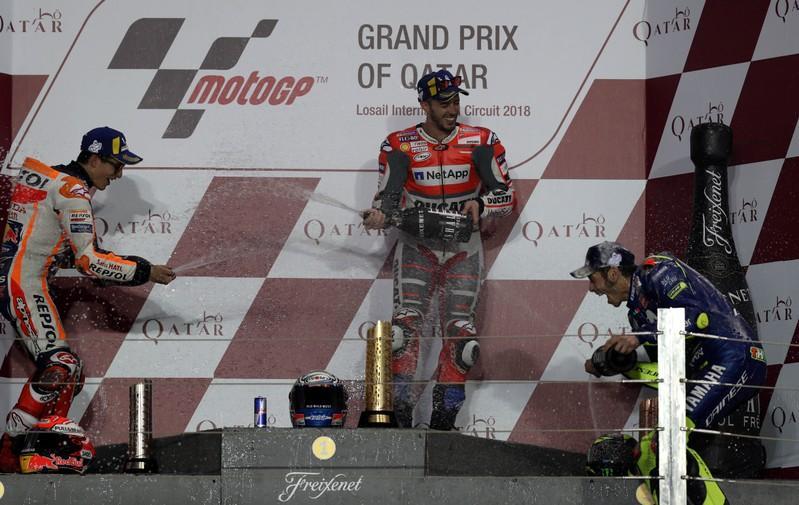 Dovizioso pips Marquez to win MotoGP opener in Qatar https://t.co/vlIk8i2sqq
