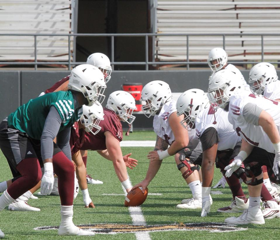 #SpringBall Barry Howard @BarryHoward11 @ULM_FB 4merly Co-Lin JuCo @colinathletics