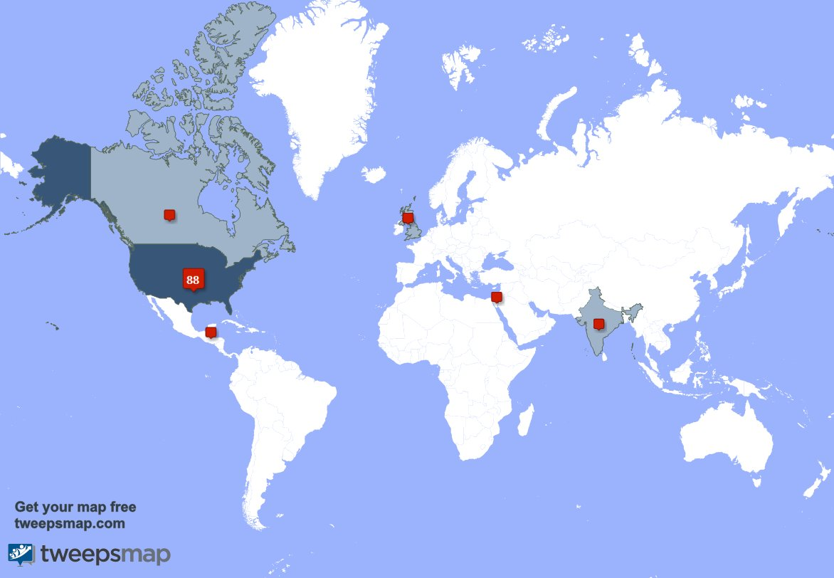 test Twitter Media - My followers live in 6 countries: USA(86%), Belize(2%)... https://t.co/pkSZRny8bg Get your free map! https://t.co/2ckdoQS2pP