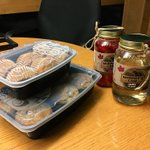 It doesn't get much sweeter than this! A very special thanks to @PegDuckie for the moonshine and muffins! Super thoughtful!! 😁✌🏼 #moonshine #postgame #drinks #hometownhockey #coldcreekcounty