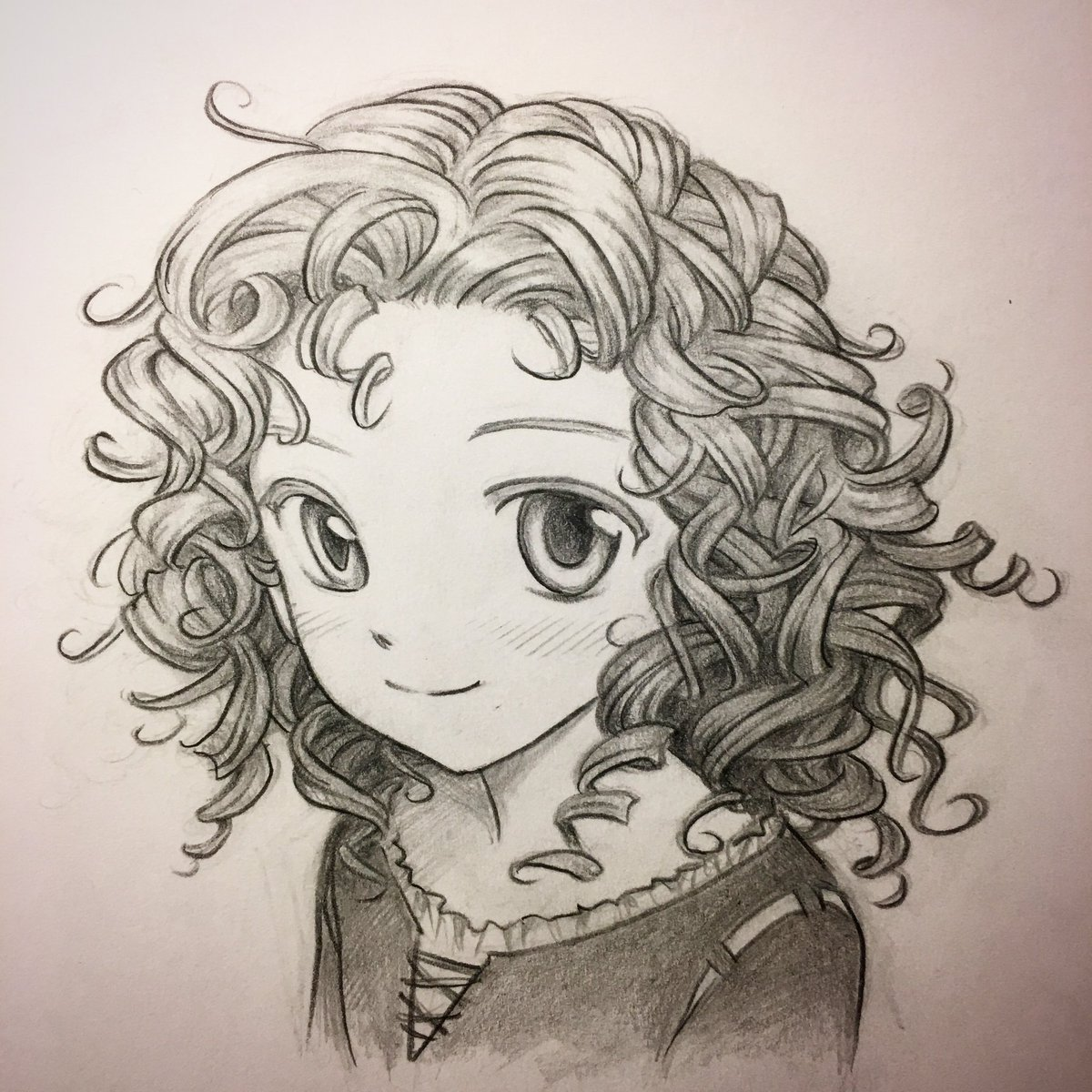 Mark Crilley On Twitter An Attempt At Drawing Curly Hair It S