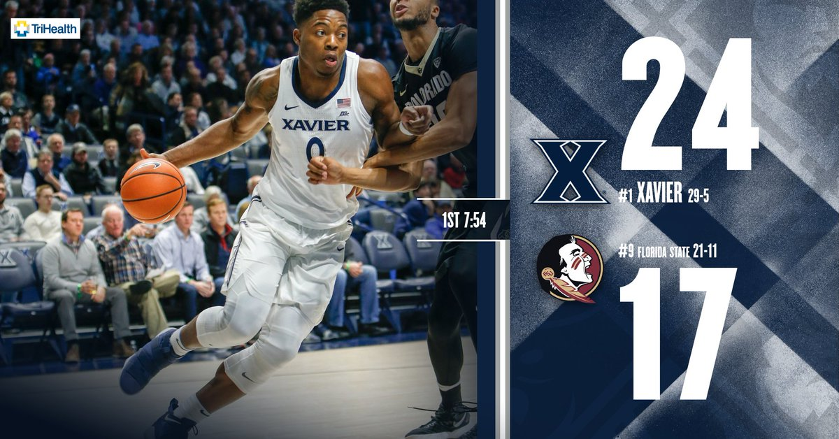 Xavier shooting an impressive 71.4% from...