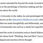 """Mourning the loss of an amazing professor, human and social psychologist @J_Cacioppio. I remember learning about """"elaboration likelihood model"""" in college, and reading his more recent work on """"loneliness."""" Deepest condolences to his family.  https://t.co/xa4ICVscCM"""