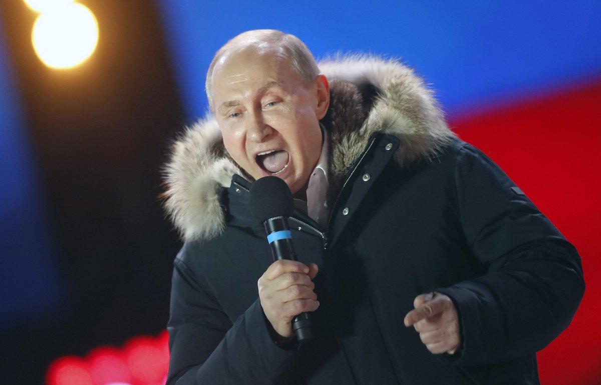 Putin gana las elecciones presidenciales con un 76% de apoyo, un resultado histórico para el inquilino del Kremlin  https://t.co/UimnfN5zsj