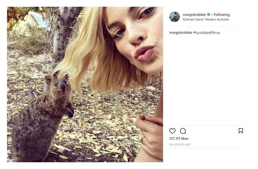 Oscar-worthy selfie, @MargotRobbie. Than...