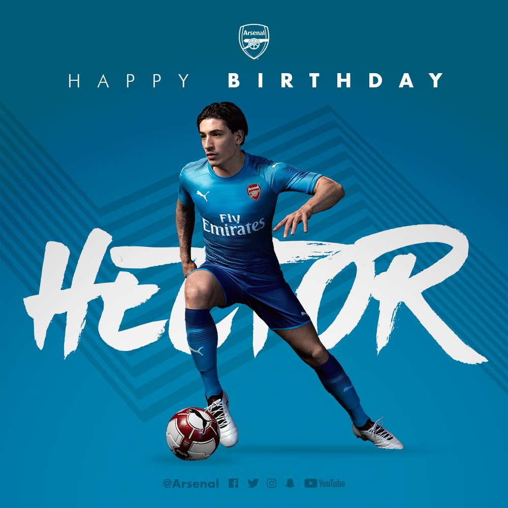 🎈 Have a good one, @HectorBellerin
