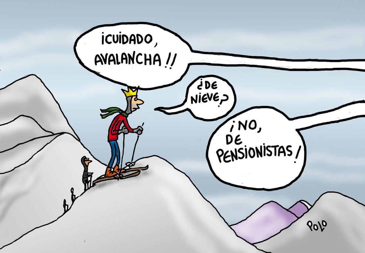 La viñeta de hoy...'Cuidado, avalancha' #PensionesDignas @Famelica_legion @carolacaracola5