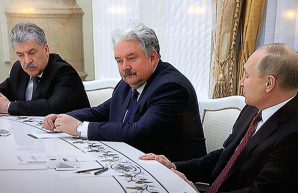 Соперники Путина по выборам пришли к нему в Кремль: Грудинин с усами