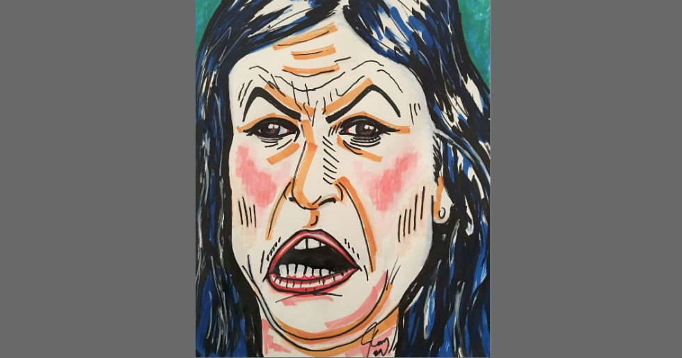 Jim Carrey shares portrait of Sarah Huckabee Sanders: 'Whose only purpose in life is to lie for the wicked'  https://t.co/iXnJObkpAa