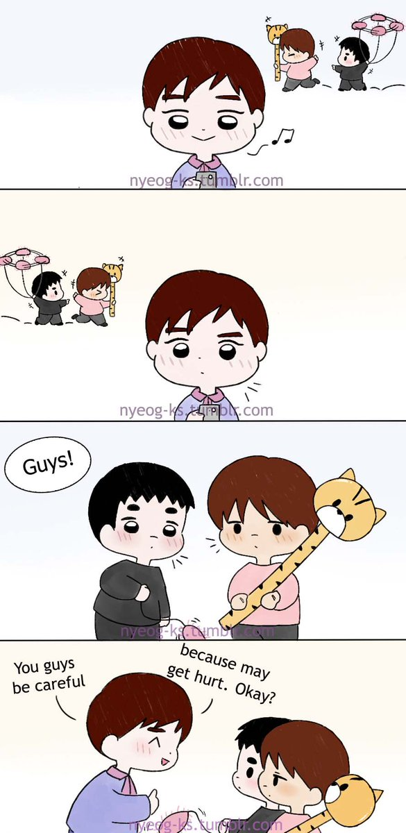 [Fanart] #kaisoo ft Suho: Be careful!  🐧...