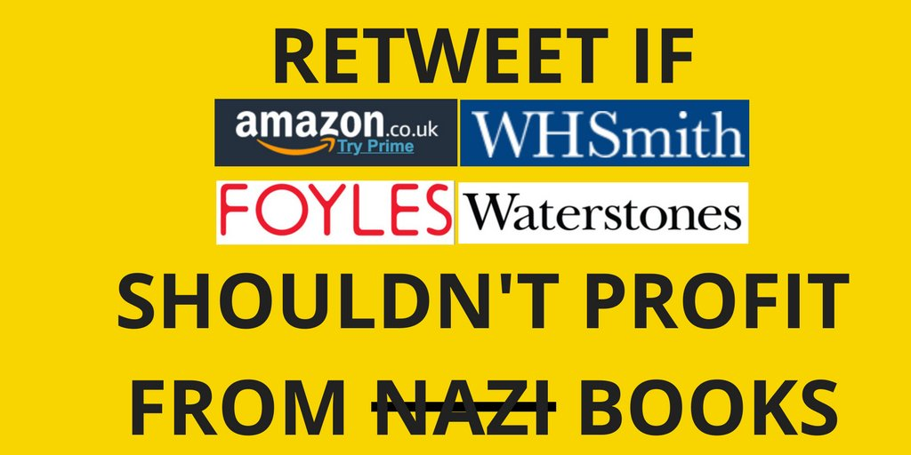 Hope not hate on twitter join our campaign against waterstones join our campaign against waterstones whsmith amazonuk foyles hivestores listing racist and nazi books on their websites solutioingenieria Images