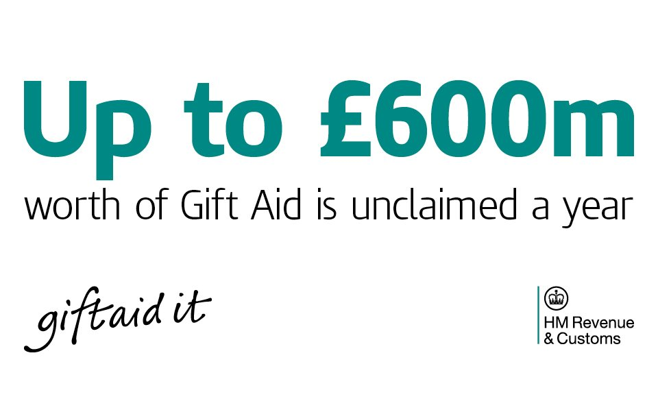 Hm revenue customs hmrcgovuk twitter the gift aid box on donations so charities dont miss out on 600m extra fundingutmsourcehmrcgovukutmmediumownedtwitter picitterqn62wuhemb negle Image collections